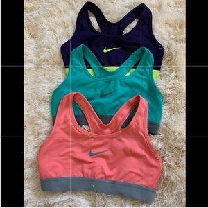 Bundle - 3 Nike Dri-Fit Sports Bras, XS